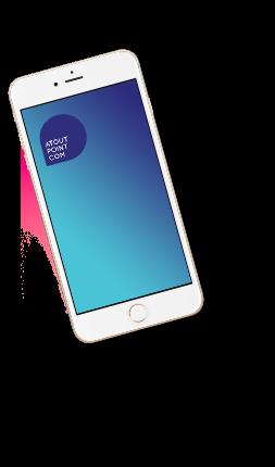 Iphone-bleu