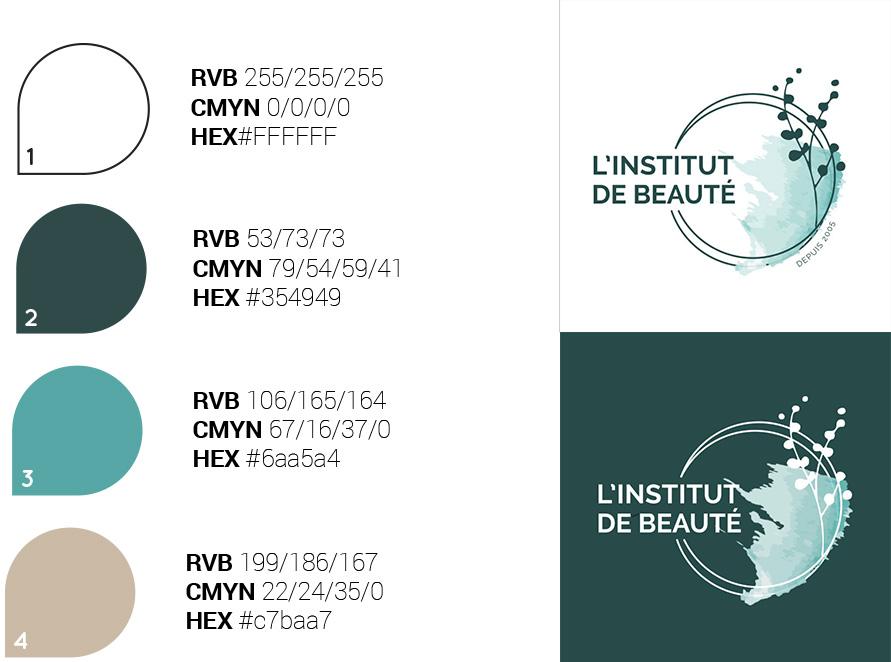 Création logo institut de beauté Nantes